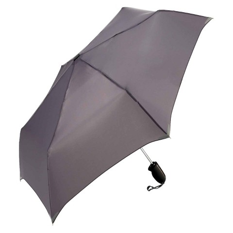 WalkSafe Auto Open/Close Reflective Umbrella -  Charcoal 42""