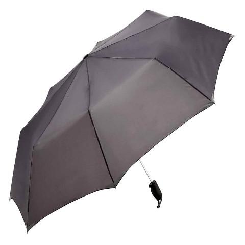 """WalkSafe Auto Open Reflective Jumbo Umbrella - Charcoal 56"""""""