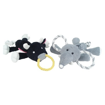 Bungee Pull Dog Toy Bull/Elephant - Boots & Barkley™