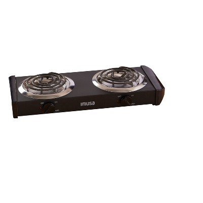 Imusa Electric Double Burner - Black