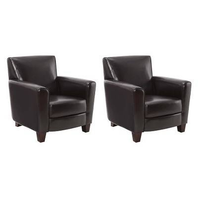 Nolan Bonded Leather Club Chair - 2 Pack - Threshold™