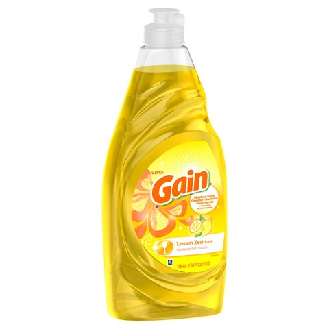 Gain Ultra Lemon Zest Antibacterial Liquid Dishwashing Soap 30 oz