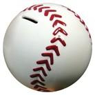 Stephan Baby White, Red Baseball Ceramic Bank