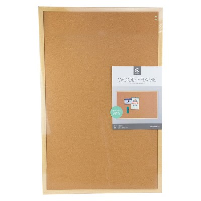 "Ubrands Wood Frame Bulletin Board - 23"" x 35"""