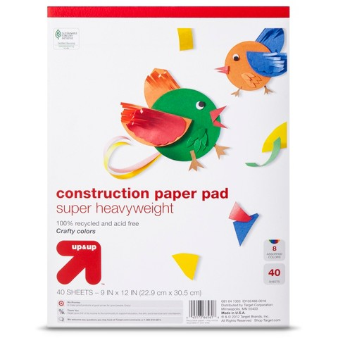 up & up™ 9x12 Multicolored Heavyweight Construction Paper