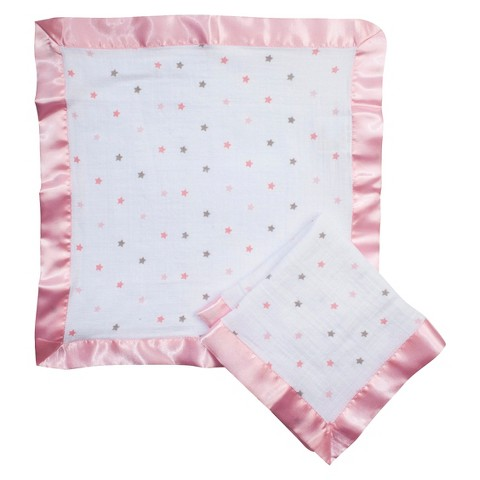 aden® by aden + anais® security blankets 2-pack - Moochy - Pink Stars