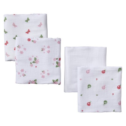 aden + anais pink butterfly patch muslin swaddles