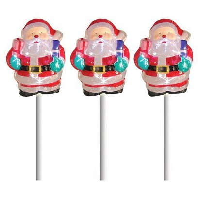 Battery Operated Icy Pathmarker Santa - Multicolor (3'')
