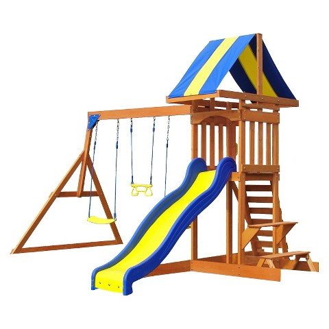 Backyard Discovery Providence All Cedar Wooden Swing Set