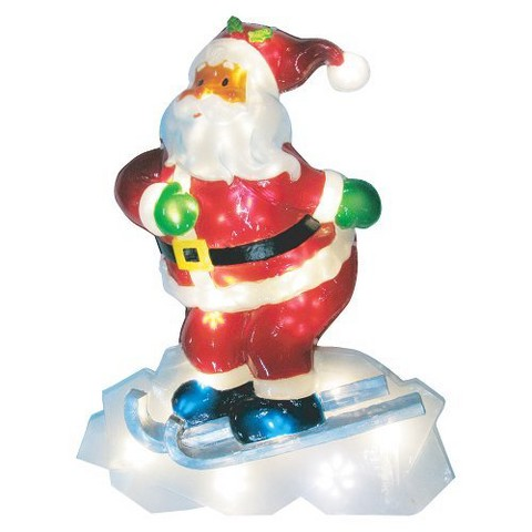 Battery Operated Icy Santa - Multicolor (3.5')