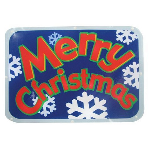 """LED Battery Operated Sign """"Merry Christmas"""" - Red (15'')"""