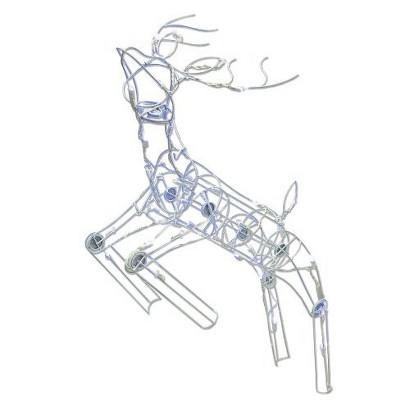 LED Posing Deer - White (35'')