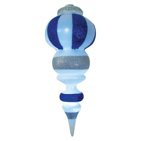 """LED Battery Operated """"Ornalite"""" Finial - Blue/White (14'')"""