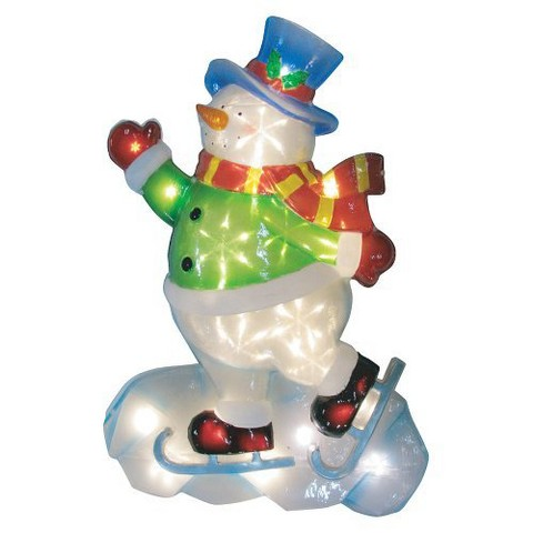 Battery Operated Icy Snowman - Multicolor (25'')