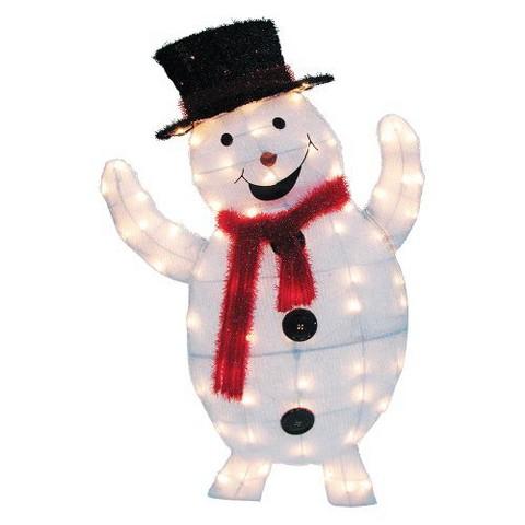 2D Snowy Soft Snowman - Multicolor (36'')