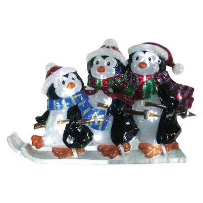 Battery Operated Icy Penguin Family Lawn - Multicolor (30'')