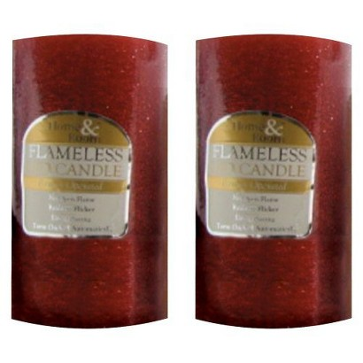 "3""X 6"" Red Glitter Candle - Set of 2"