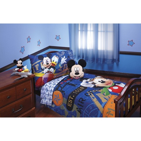 Disney 174 mickey mouse 4 piece bed set blue toddler product details