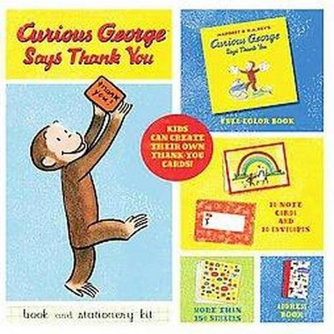 Curious George Says Thank You Book and Stationery Kit (Mixed media product)