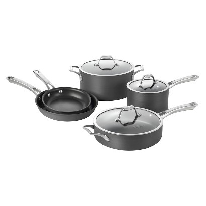 CALPHALON KITCHEN ESSENTIALS ASPIRE 8 PIECE NONSTICK COOKSET