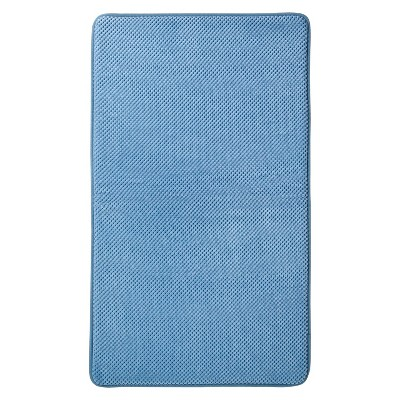 "Mohawk Home Memory Foam Bath Mat - Basin Blue (20x34"")"