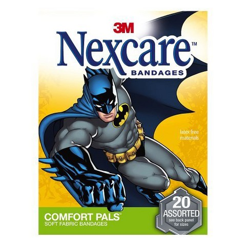Nexcare Comfort Pals Batman Assorted Soft Fabric Bandages 20-ct.