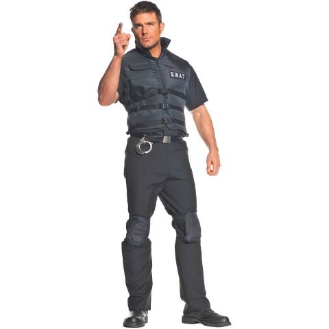 Men's SWAT Plus Costume Black XXL