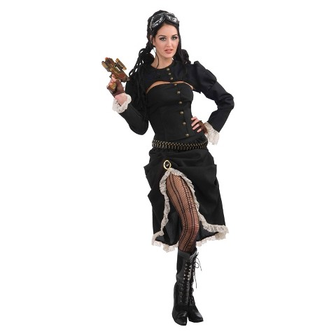 Women's Steampunk Renegade Costume - One Size Fits Most