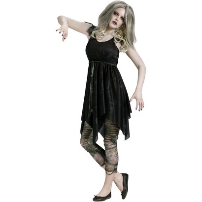 Teen Girl's Night Zombie Costume