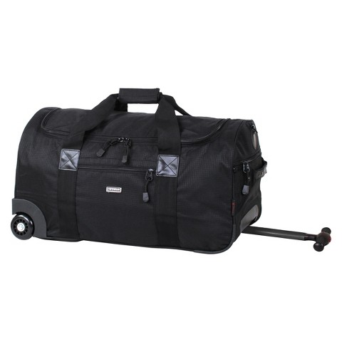 J World Tamarak Carry-on Rolling Duffel Bag - Black