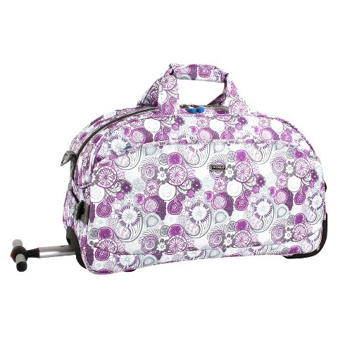 J World Christy Carry-on Rolling Duffel Bag - Lemon