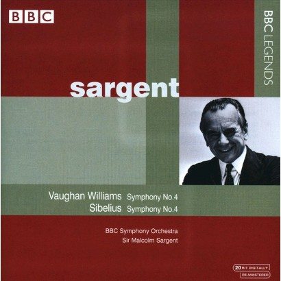 Vaughan Williams: Symphony No. 4; Sibelius: Symphony No. 4