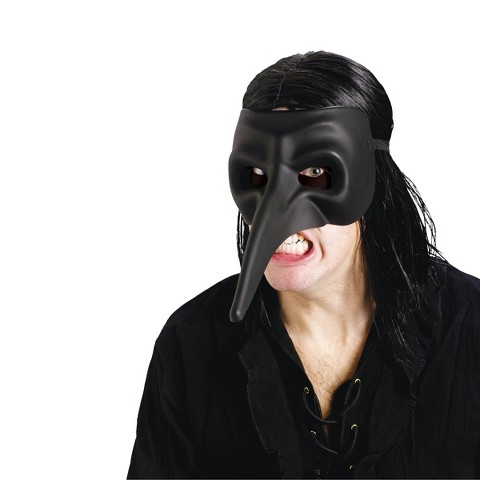 Adult Venetian Raven Black Mask