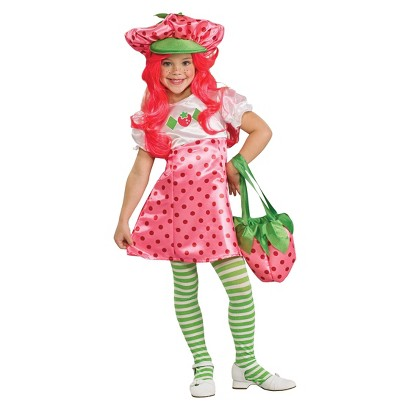 Image of Girl's Deluxe Strawberry Shortcake Deluxe Costume