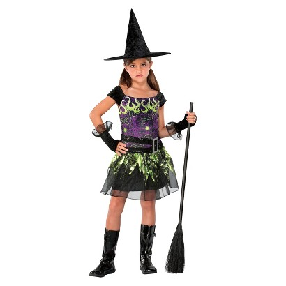 Image of Girl's Spellcaster Witch Costume