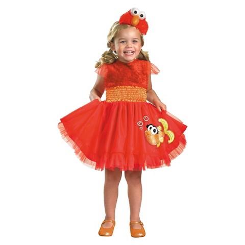 Toddler Girl Sesame Street Frilly Elmo Costume