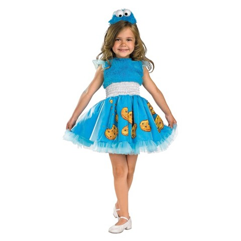 Toddler/Girl's Sesame Street - Frilly Cookie Monster Costume