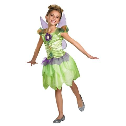 Girls' Disney Tinker Bell Rainbow Classic Costume