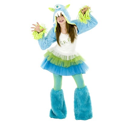 Tween Girl's Grrr Monster Costume - One Size Fits Most