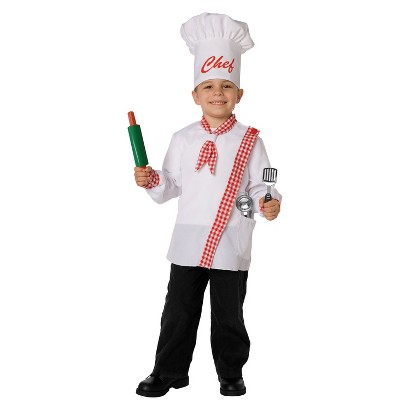 Boy's Chef Costume - One Size Fits Most (Fits Sizes 4-8)