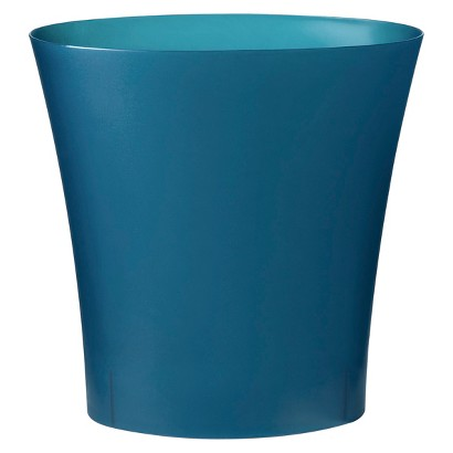 Small (13-qt.) Turquoise Plastic Waste Basket