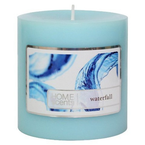 "Threshold™ Waterfall Hand-Poured 3x3"""""""" Pillar Wax Candle"""