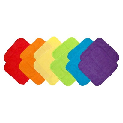 Neat Solutions 12 Pack Bright Washcloth Set