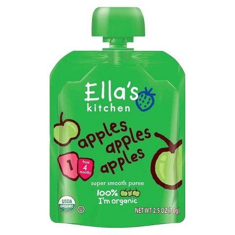Ella's Kitchen Organic Pureed Baby Food Pouch - Stage 1 Apples Apples Apples 2.5oz (7 pack)