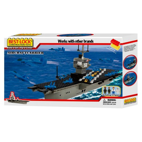 Best-Lock Aircraft Carrier Building Set 500 Piece