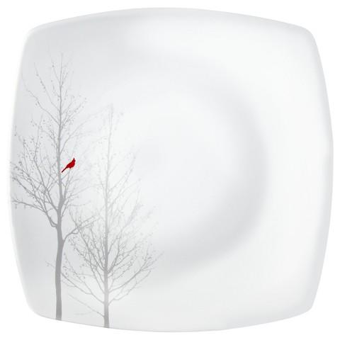 Winter Cardinal  Dinner Plate Set of 4