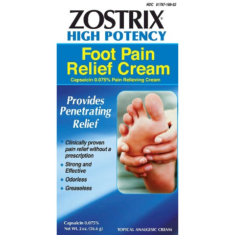 Zostrix Neuropathy Diabetic Foot Pain Relieving Target