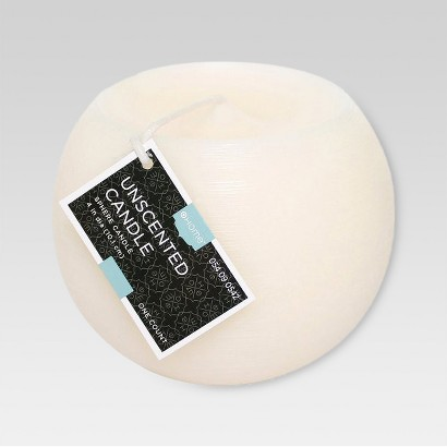 """Threshold™ Unscented Cream 4"""" Spherical Wax Candle"""