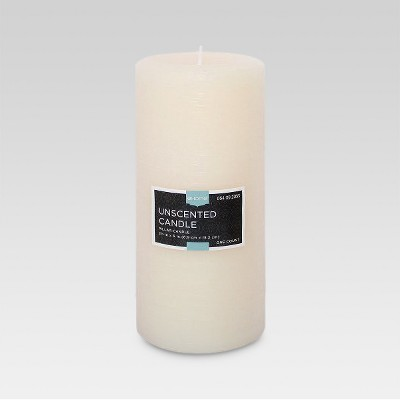 Fragrance Free Cream 6x3 Pillar Candle - Threshold™