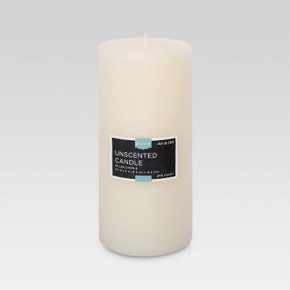 "Threshold™ Unscented Cream  6x2.75"" Pillar Wax Candle"